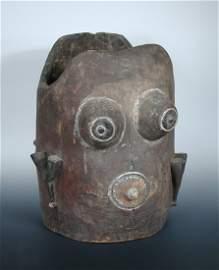 A Bobo carved wood torso of a lady,