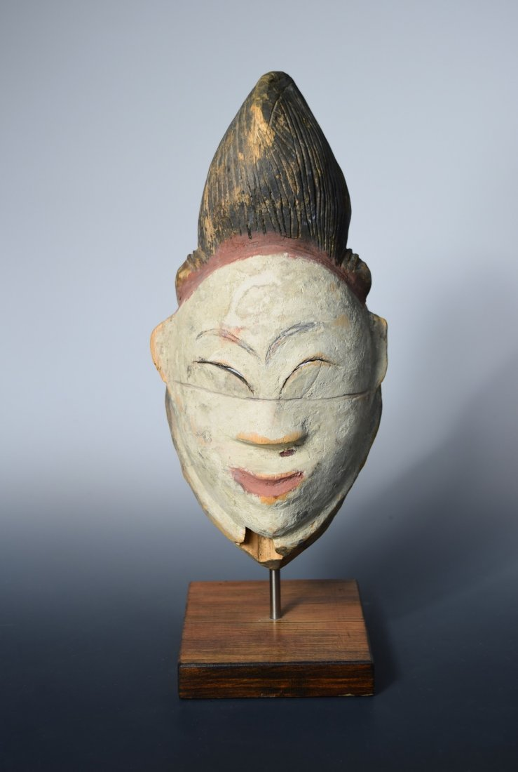 An early 20th century Punu Gabon wooden mask for a