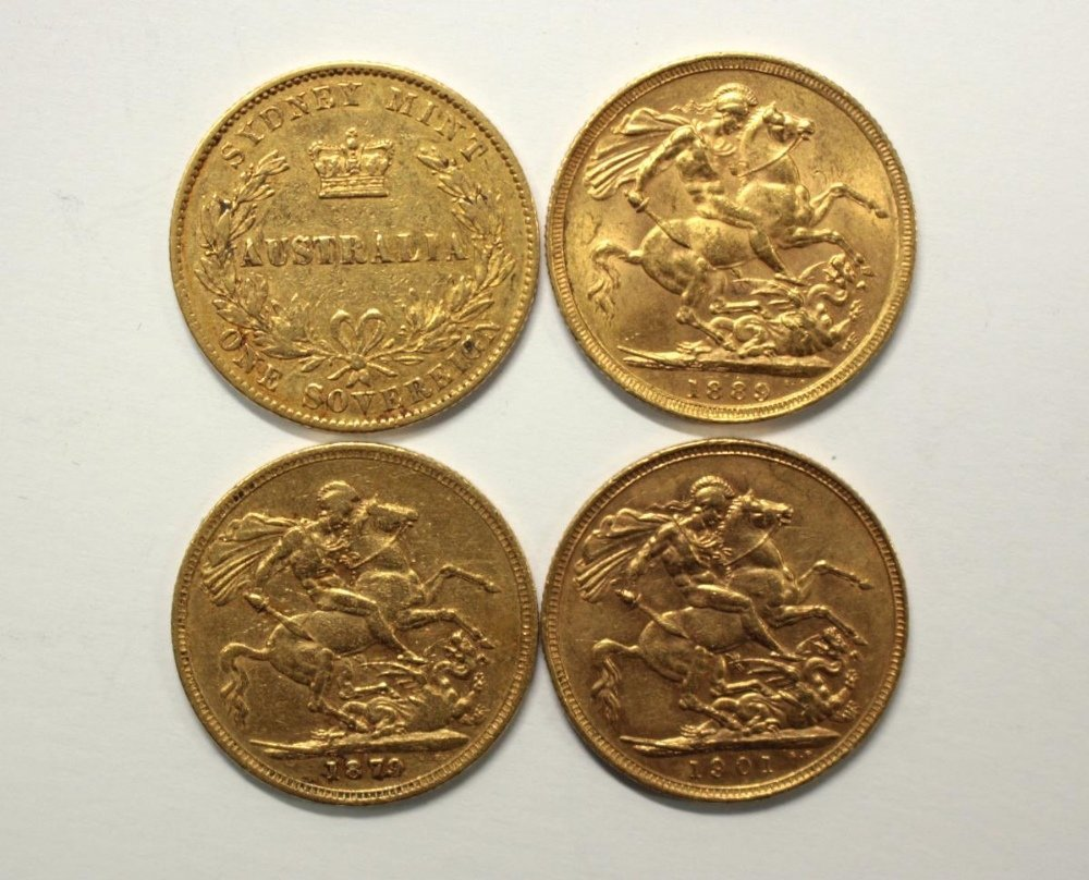 One Australian gold sovereign, 1870 (Sydney mint) and
