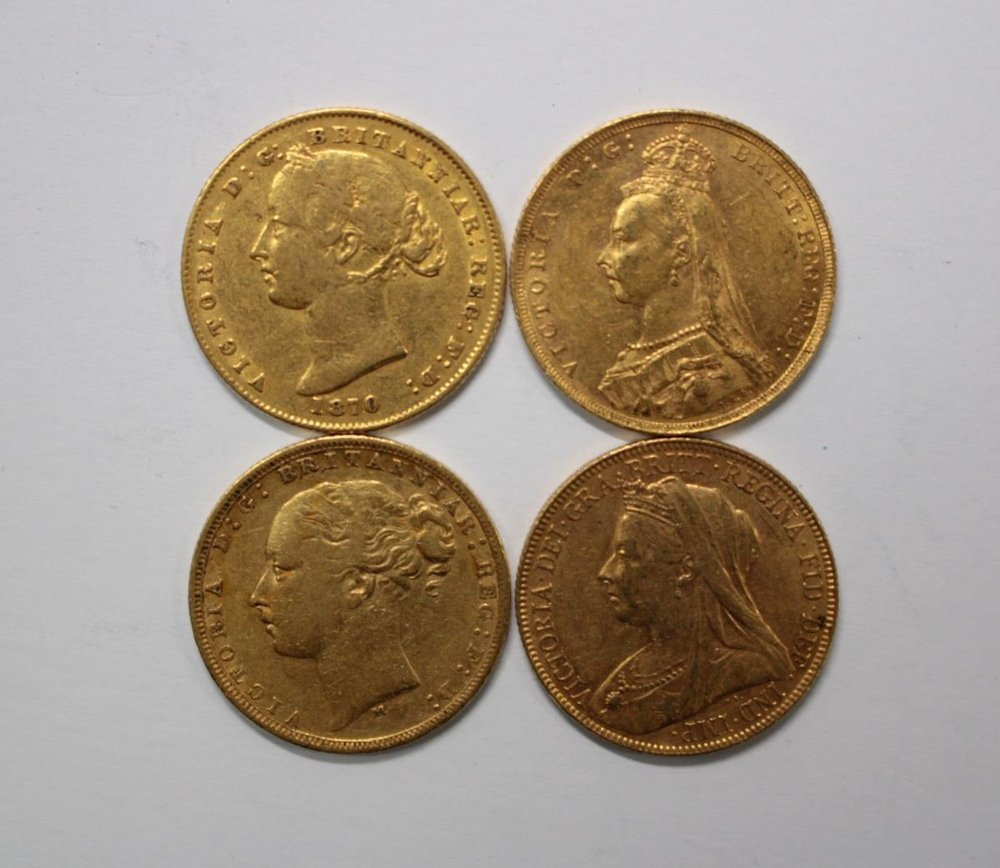 One Australian gold sovereign, 1870 (Sydney mint) and - 2