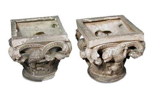 Manifattura di Signa, a pair of terracotta column