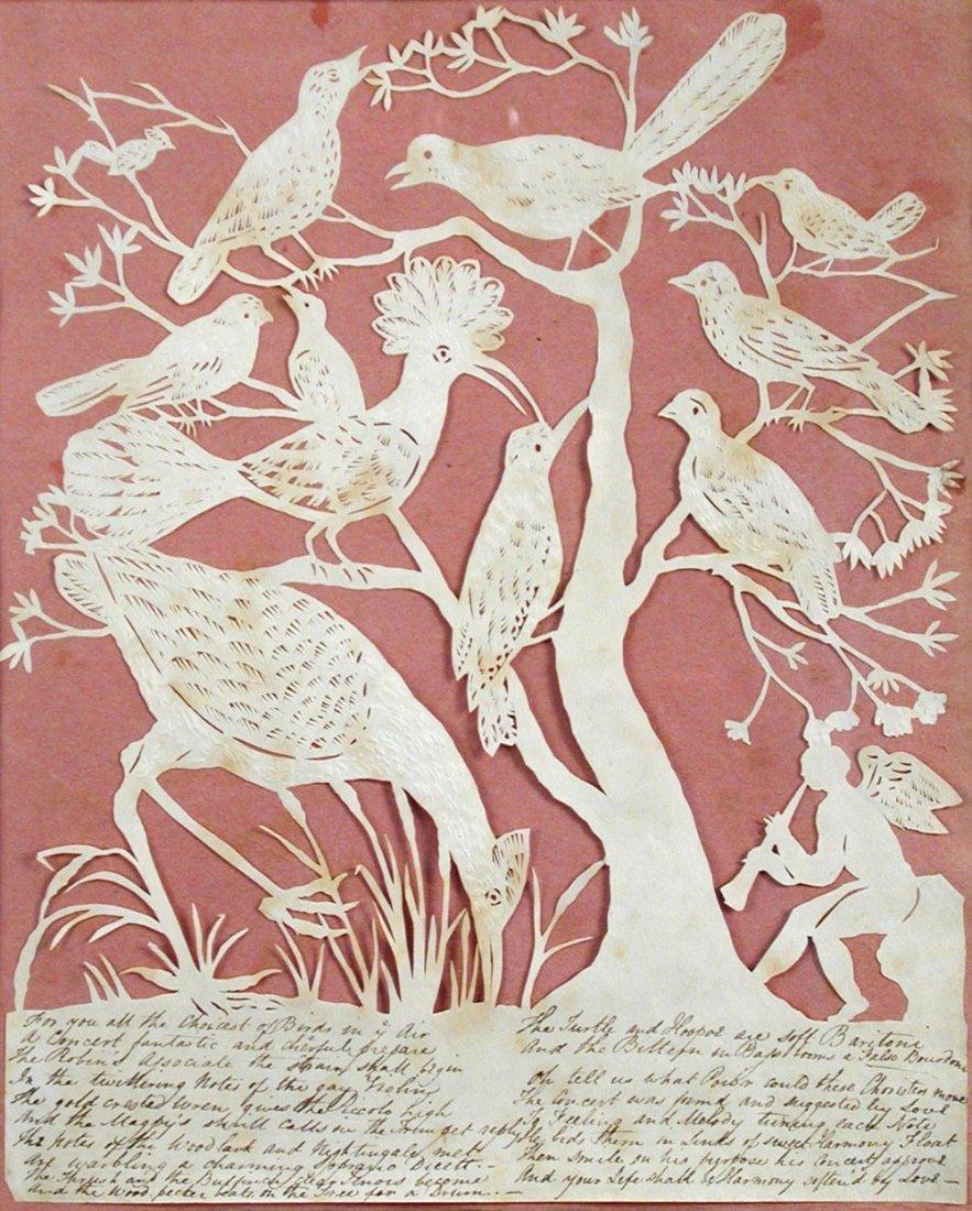 Elizabeth Cobbold (British, 1767-1824)  - A paper cut