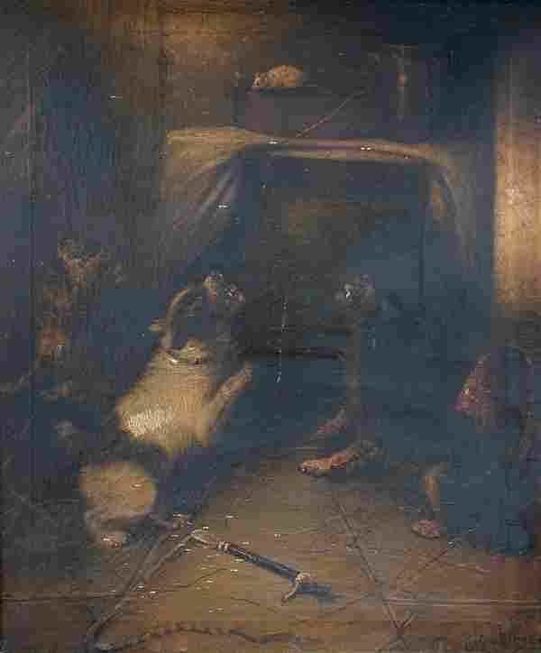 George Armfield (British, 1808-1893) Terriers ratting;