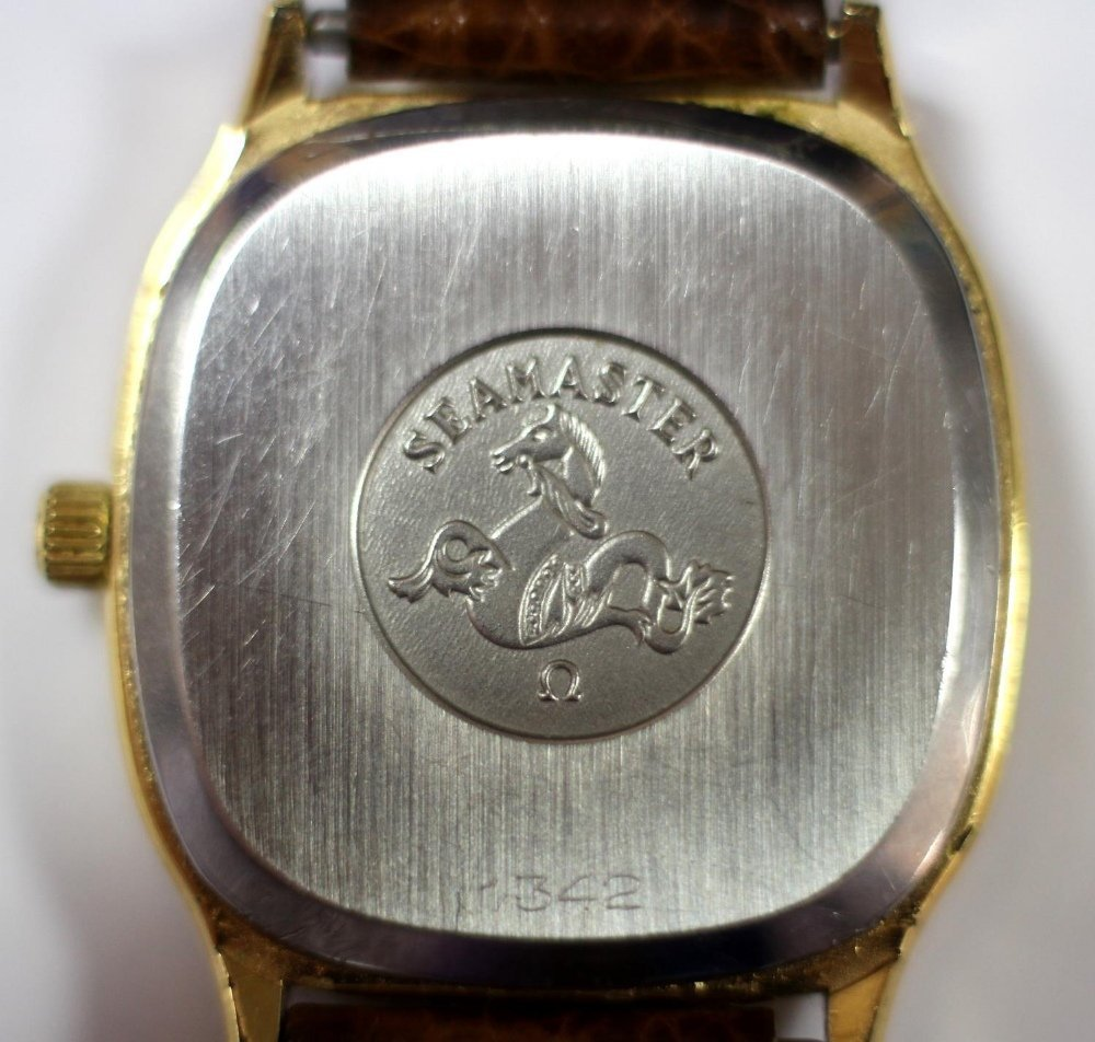 By Omega - a 'Seamaster' gold plated quartz wristwatch, - 2