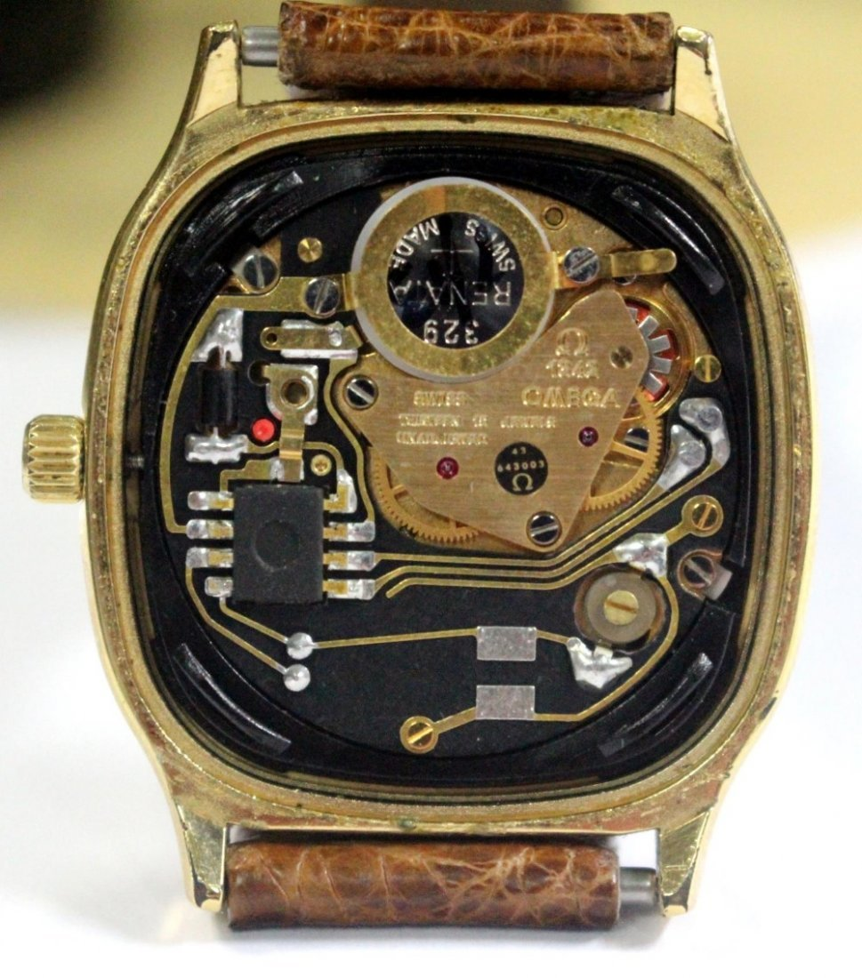 By Omega - a 'Seamaster' gold plated quartz wristwatch, - 3