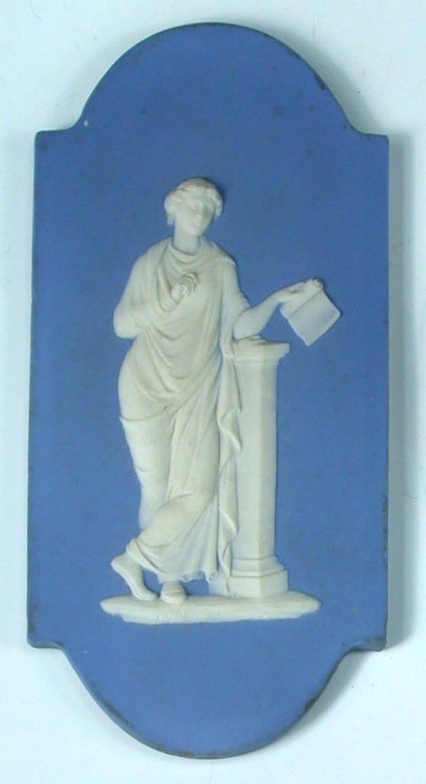 5: A 19th century Wedgwood blue jasper plaque