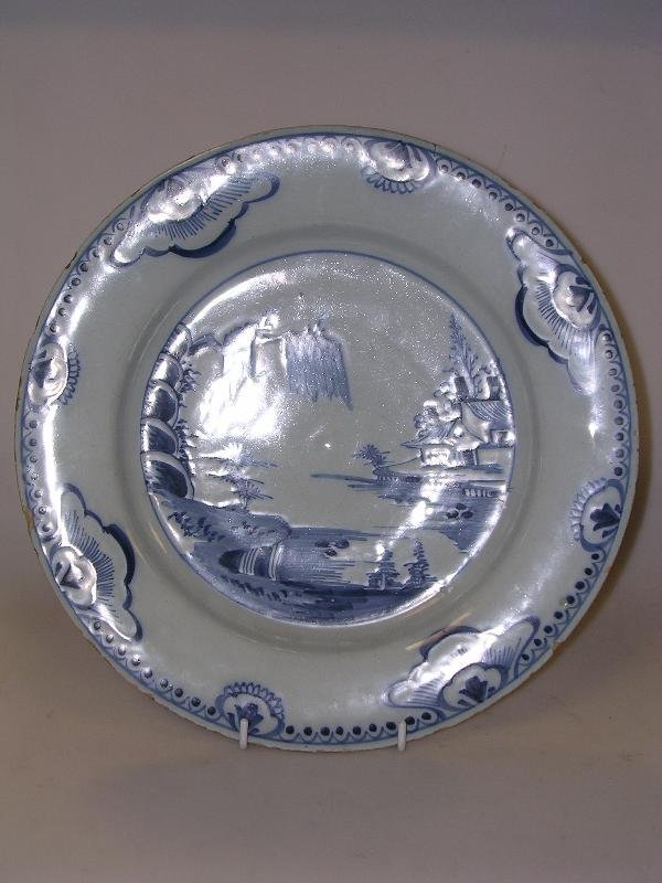 11: An English Delft blue and white dish