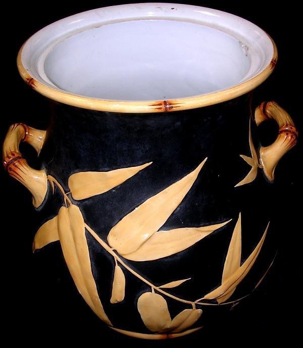 17: A Minton majolica two handled jar