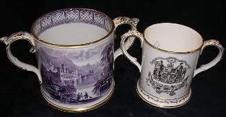An early Victorian Coalport loving mug
