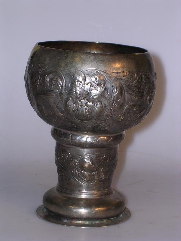 403: A nineteenth century German silver goblet