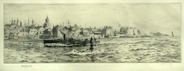 600: William Lionel Wyllie, etching