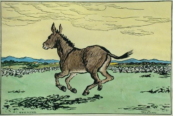 602: Jack Butler Yeats, hand-coloured woodblock