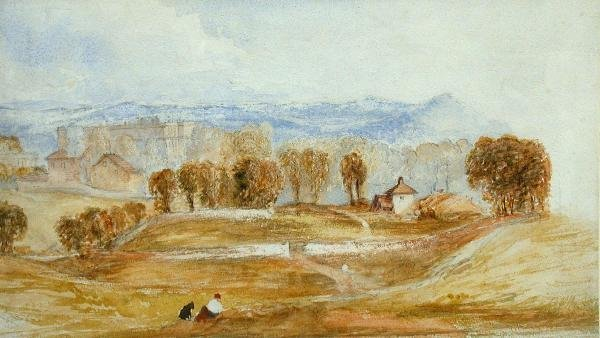 609: Attributed to John Martin, watercolour