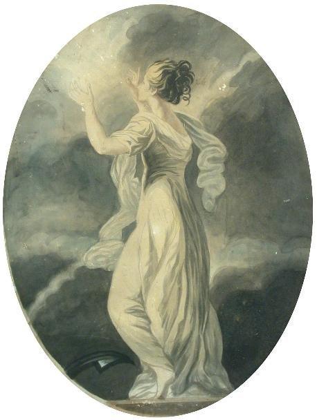 612: Circle of Sir Joshua Reynolds, watercolour