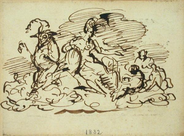 613: George Cruikshank, pen and ink