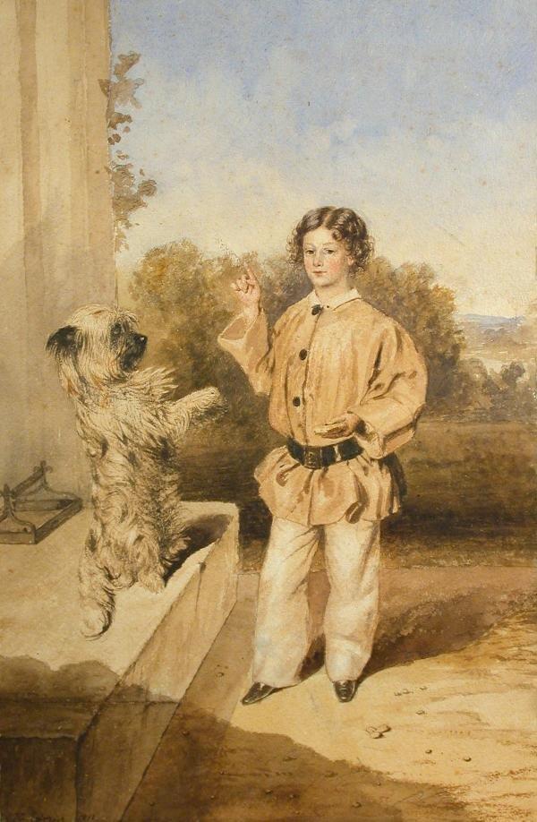 614: Henry Edridge, watercolour