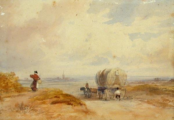 615: Circle of David Cox, watercolour