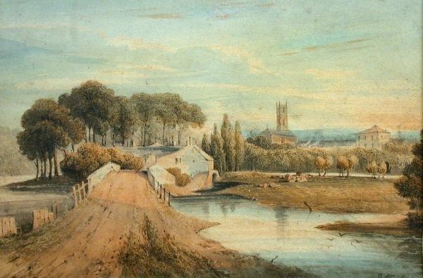 618: John Varley, watercolour
