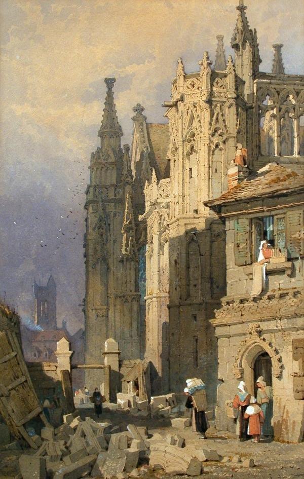 619: Samuel Prout, watercolour