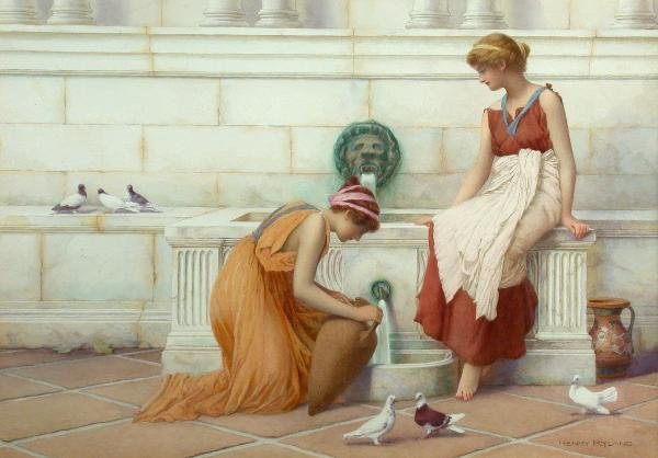 620: Henry Ryland RI, watercolour