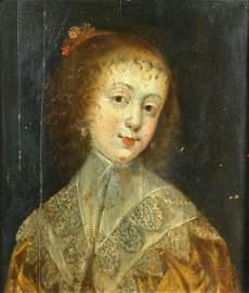 669: Circle of Sir Anthony Van Dyck, oil on panel