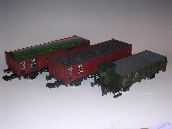 2003: Marklin gauge 1  - Offener Guterwagen mit Altglas