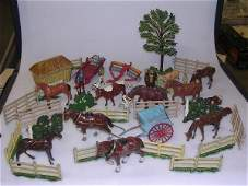 2204 Collection painted lead farm animals and figures