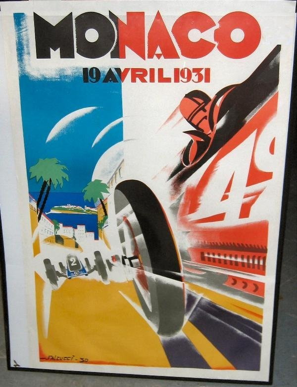 1021: Monaco- a reproduction lithographic poster