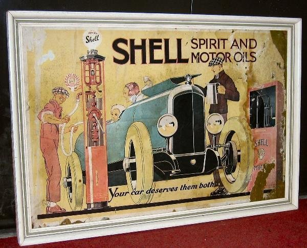 1030: Shell Spirit & Motor Oils- an original 1926 poste