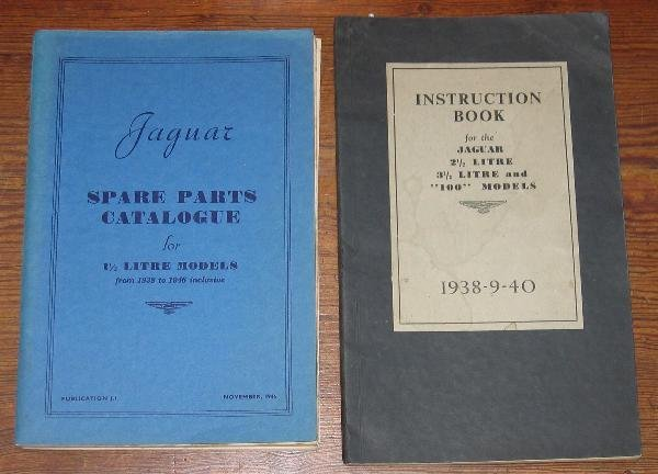 1111: Jaguar- a 1946 spare parts catalogue covering 1.5
