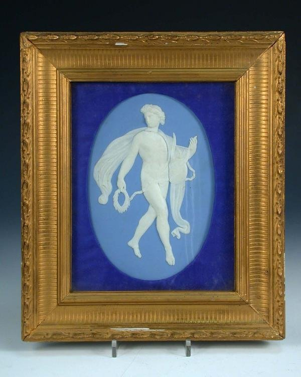 9: A 19th century Wedgwood blue jasper plaque