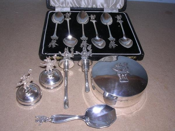 26: A collection of Trusty Servant silver