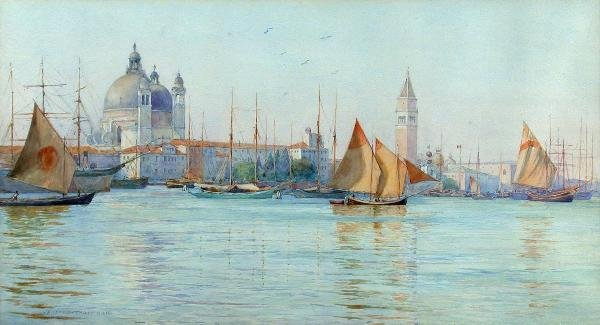 304: Wilfred Thompson (1884-1894) watercolour