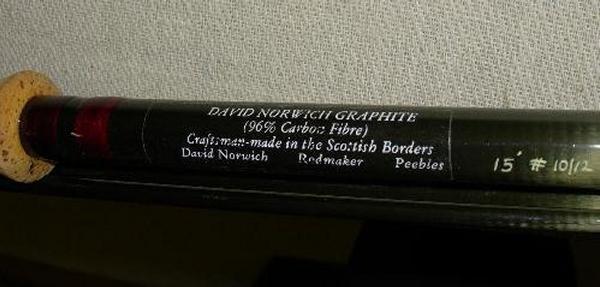 507: DAVID NORWICH CARBON SPEY ROD,