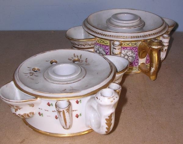29: TWO WORCESTER INKWELLS