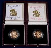 420: GOLD PROOF SOVEREIGN 1993, ANOTHER 1994