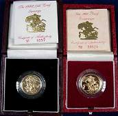 426: GOLD PROOF SOVEREIGNS FOR 1988 AND 1992