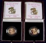 432 GOLD PROOF SOVEREIGNS FOR 1990 AND 1991