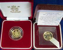 434 GOLD PROOF HALF SOVEREIGN 2002 AND A REGULAR