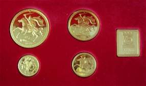 446 Isle of Man 1979 four coin gold set