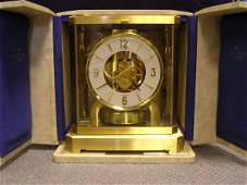 1048: A JAEGER LE COULTRE ATMOS CLOCK, WITH CASE