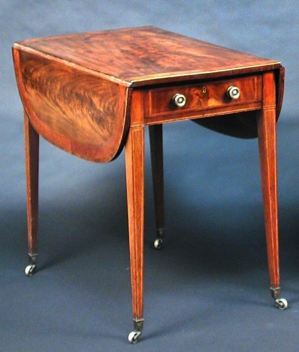 1111: A GEORGE III MAHOGANY PEMBROKE TABLE