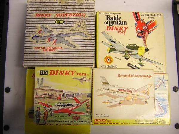 1020: DINKY TOYS BRISTOL BRITANNIA AIRLINER etc