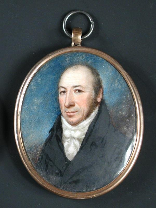 540: CASED PORTRAIT MINIATURE OF BERNARD DOBSON