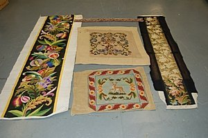 1004: A general group of textiles, Chinese and European