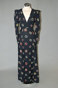 1009: An Ossie Clark for Radley printed cotton dress, m