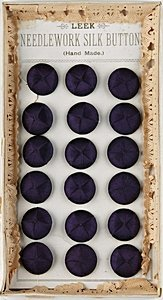 9: A rare set of Leek silk buttons in original box, cir