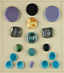 23: Two display boards of ceramic buttons, circa 1900-2
