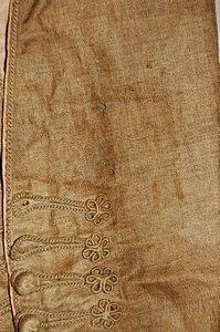 113: A rare infant's brown linen frock coat, circa 1780 - 5