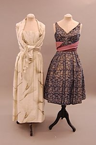 2004: A group of mainly mid-late 1950s evening wear, in